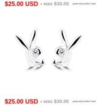 Playboy Bunny Earrings Rabbit Earrings Stud Earrings