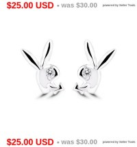 Playboy Bunny Earrings Rabbit Earrings Stud Earrings