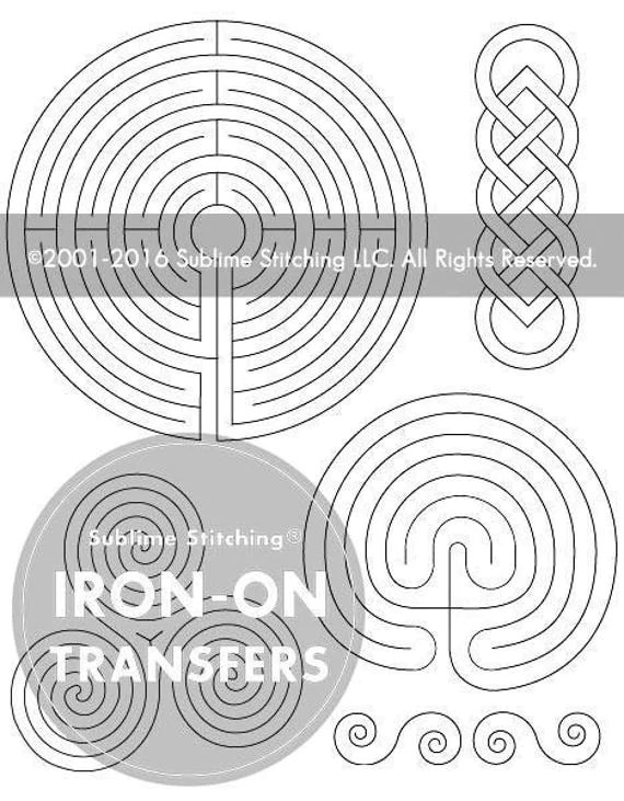 LABYRINTH- Iron On Hand Embroidery Transfer Patterns