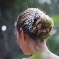 Antique Silver Wedding Hair Comb Rustic Wedding headpiece