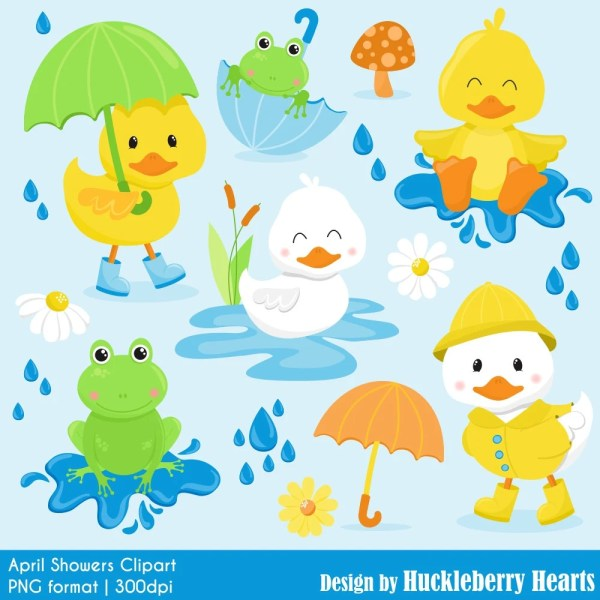 duck clipart frog spring