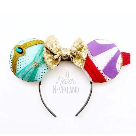 Jasmine Disney Inspired Ears, Jasmine Ears, Jasmine Mickey Ears, Aladdin Disney Inspired Ears, Aladdin Ears, Jasmine - Pre-Order Listing