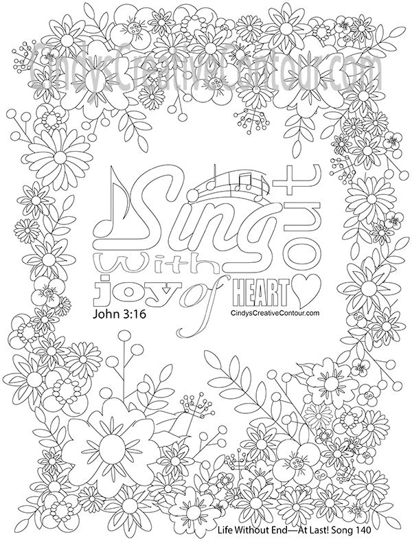 Sing Out with joy of heart Coloring Page