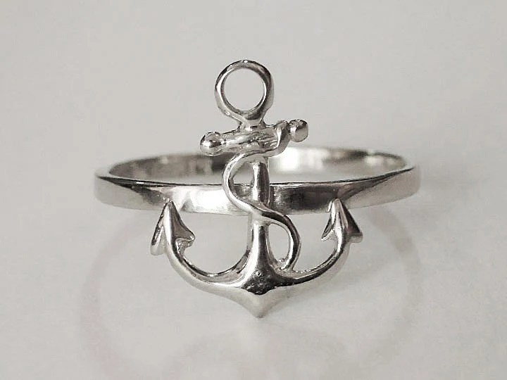 Sovats 925 Sterling Silver Anchor Nautical Ring Women Men Teen Girl US Size 5 12 EBay