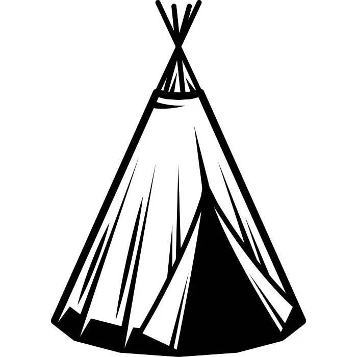 Indian Tee Pee #1 Native American House Home Hut Tent