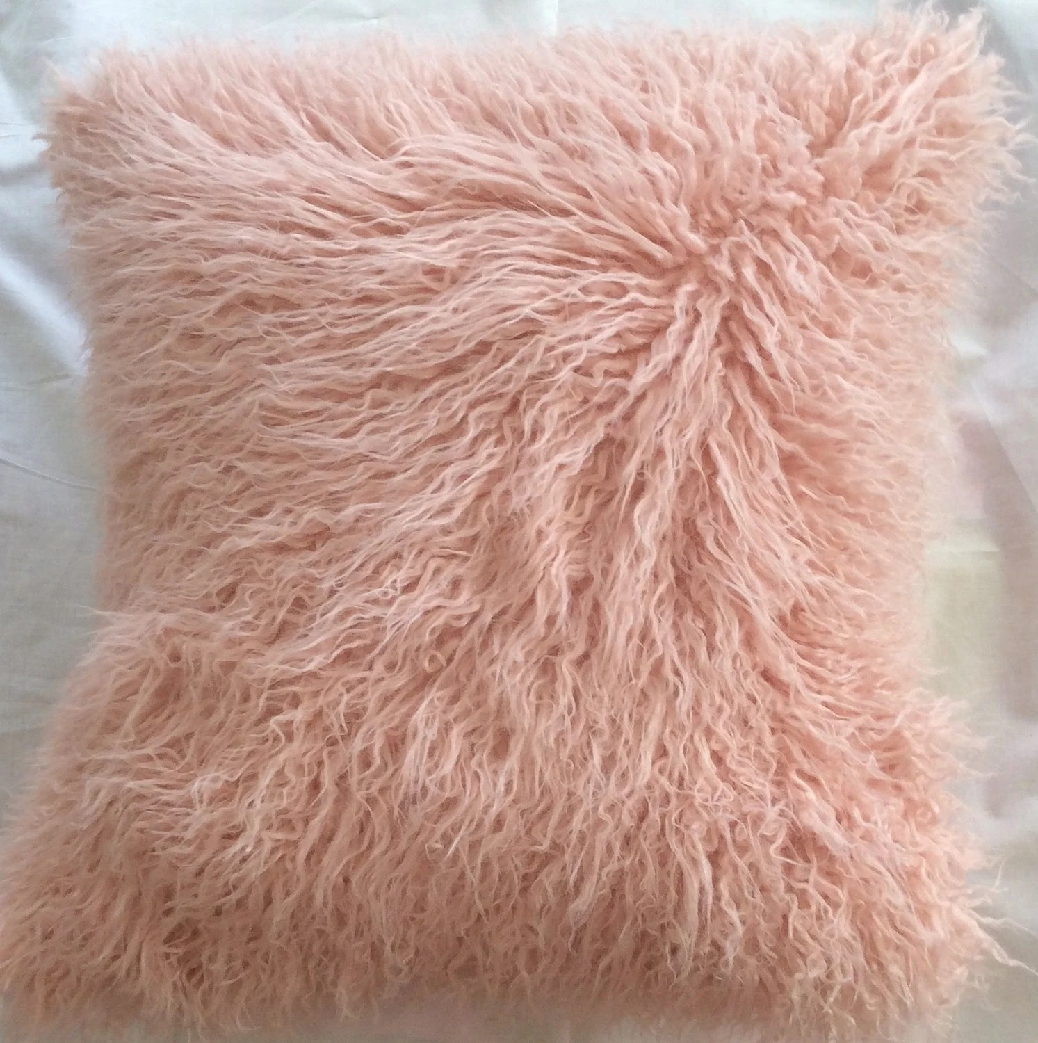 fuzzy sofa slipcover lime green dfs salmon pink faux fur pillow throw cover neutral