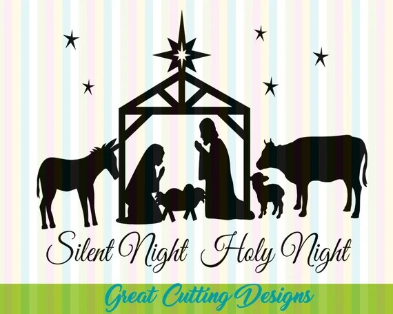 Download Christmas SVG Cut File Nativity svg DXF cut by ...