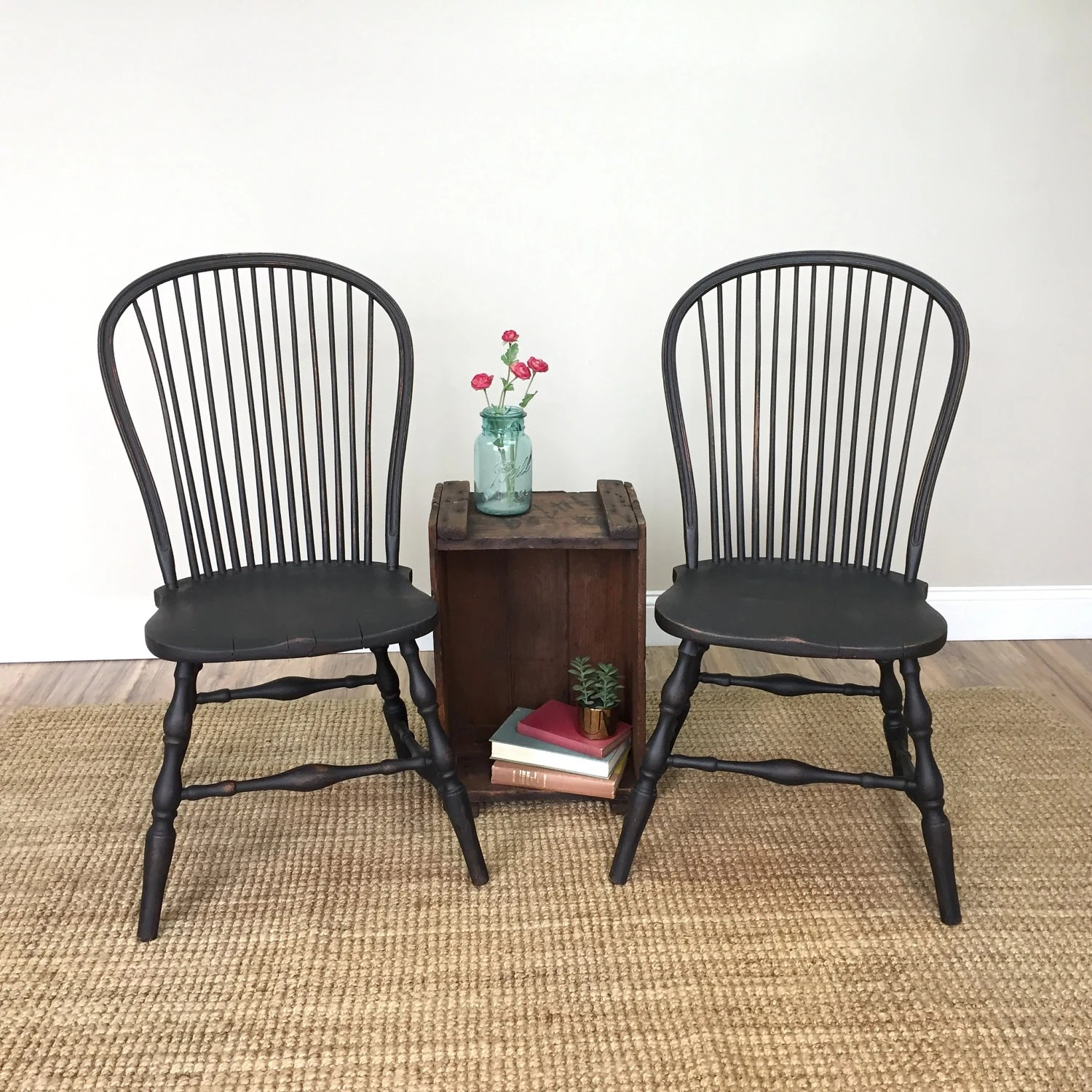black spindle chair the amazing pocket windsor chairs farmhouse dining antique