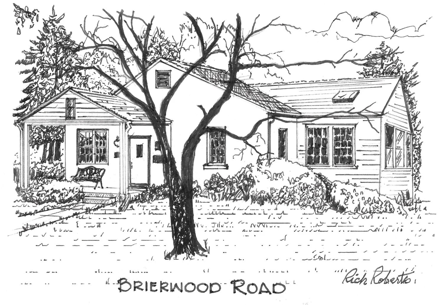 Original pen and ink drawing multiple sizes available House