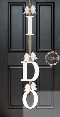 I DO Bridal Shower Door Decoration-I DO Door Hanger-Wedding