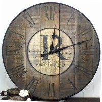 Oversized Wall Clock Family Clock Family Name Clock