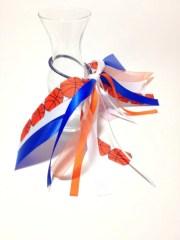 basketball hair ribbon blue orange