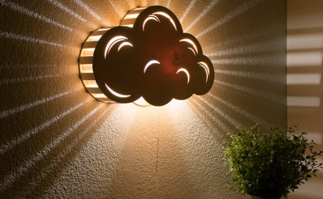 Cloud Night Light Wall Hanging Baby Kid S Room Lamp