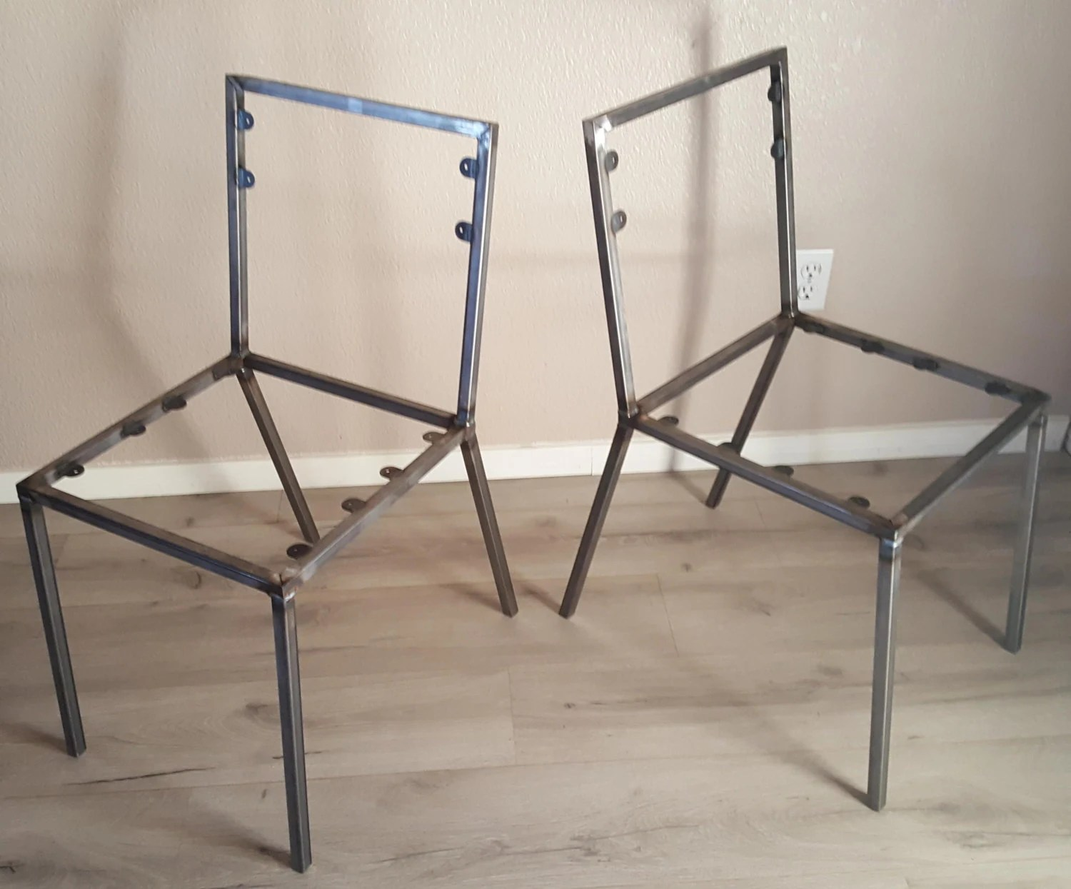 metal frame chairs how to make a rocking chair not rock steel dining set of 2 frames diy create your