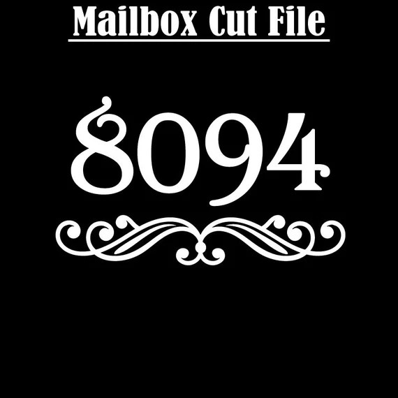 Download Mailbox Numbers - Flourish and Number Cut Files for ...