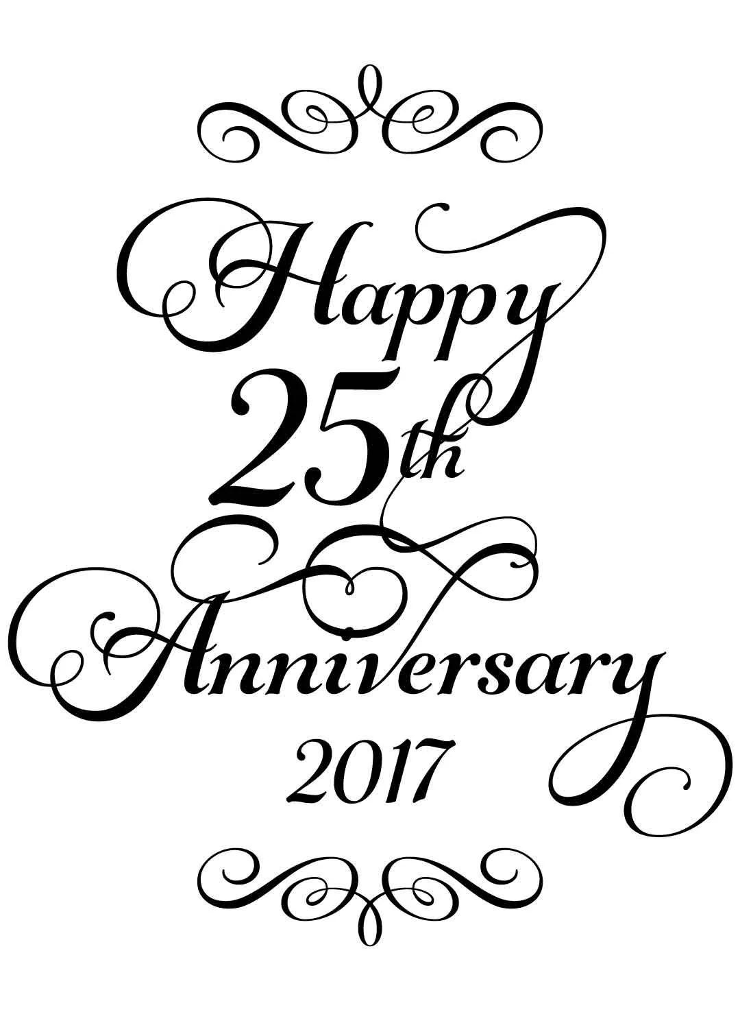 ID27 Instant Print Download Happy 25th Anniversary Wine