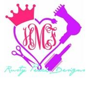 hair stylist heart monogram vinyl