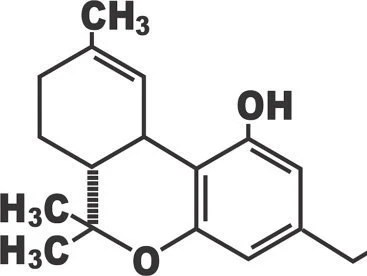 THC Chemical Structure Vinyl Decal