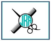 hairstylist monogram car decal