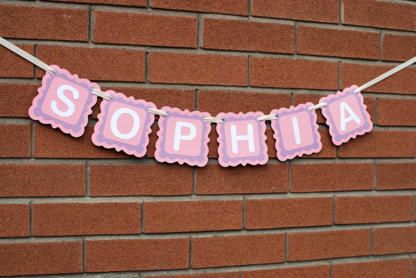 Personalized Baby Name Banner