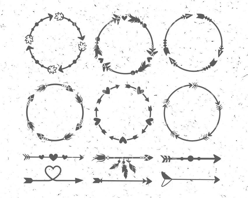 Arrow Circles svg Circles arrow svg Arrow Monogram svg Circle