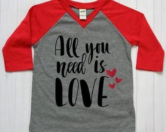 Download Kids valentine shirt | Etsy