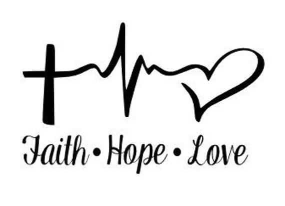 Download Faith Hope Love Decal Window Sticker Car Vinyl Decal