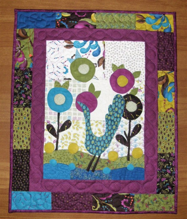 Contemporary Art Quilt Quilted Wall Hanging Modern