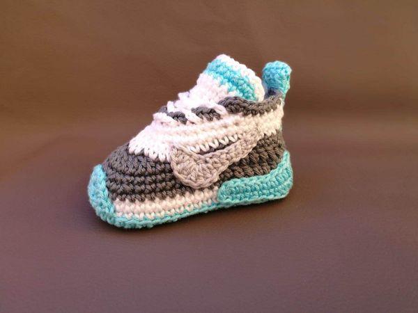 Nike Pattern Baby Shoes Newborn Sneakers Crochet