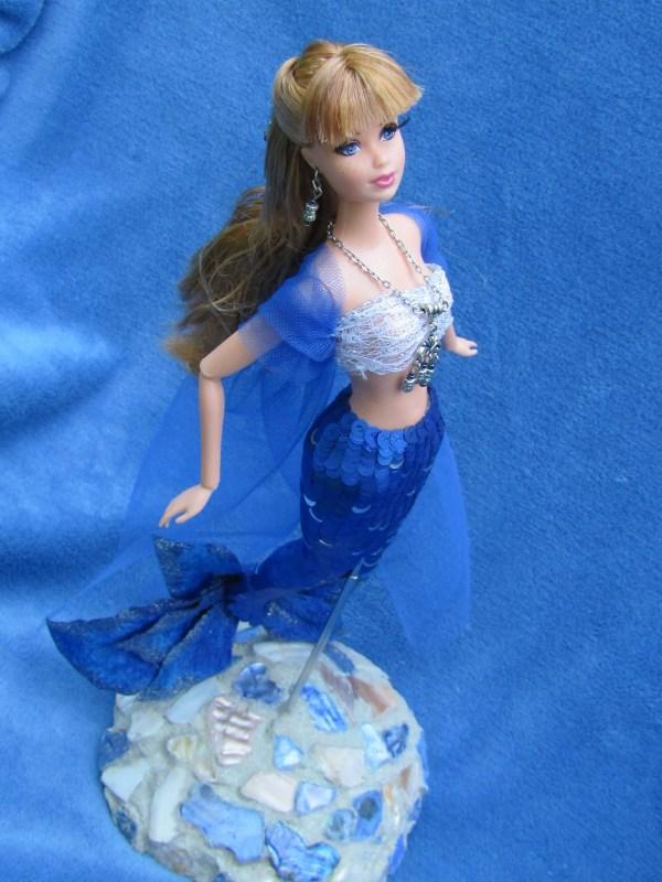 Custom Ooak Exotic Mermaid Red Haired Barbie Art Doll