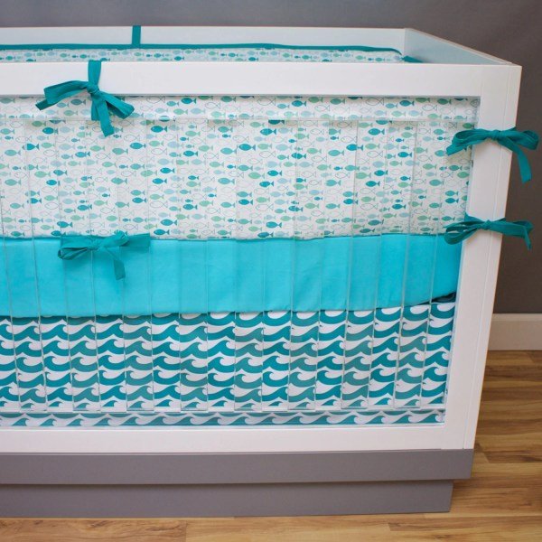 Fish Crib Bedding Baby Ocean Waves Nursery