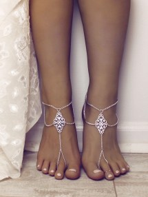 Boho Tribal Barefoot Sandals Chained Foot Jewelry Anklet Gypsy