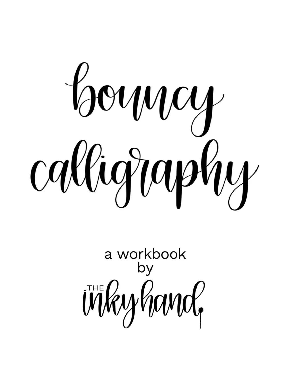 Bouncy Calligraphy Workbook Digital Download