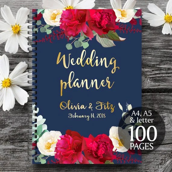 Printable wedding planner Wedding planner book DIY wedding