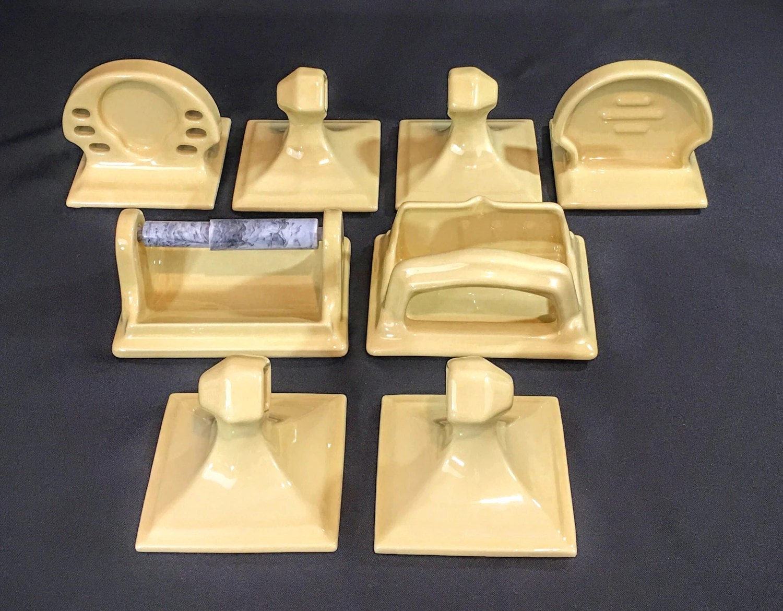 Retro Bathroom Ceramic Tile Accessories Set Soap Dish /Towel