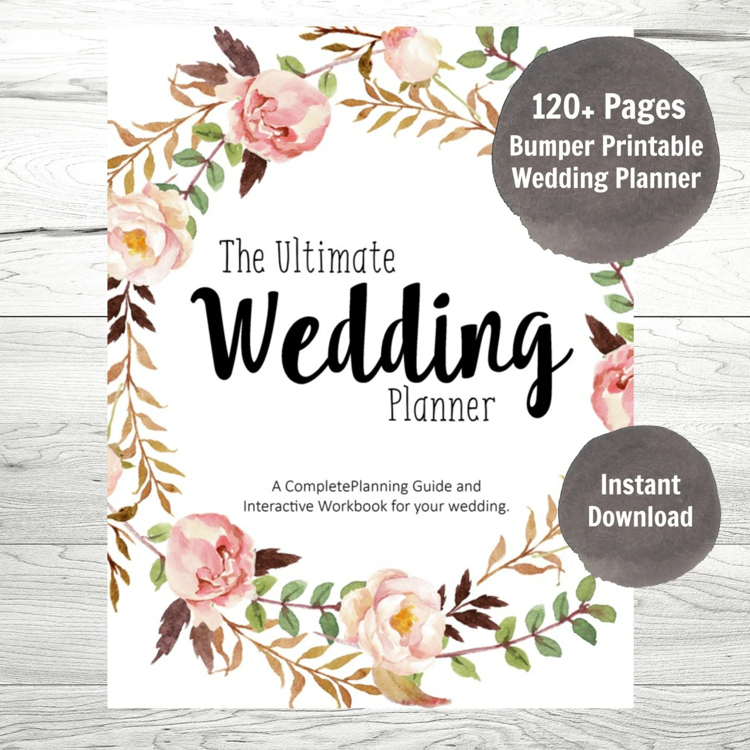 Wedding Planner Printable Wedding Planner Wedding Binder