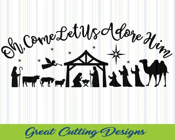 Download Christmas svg Nativity svg SVG Cut File by greatcuttingdesigns