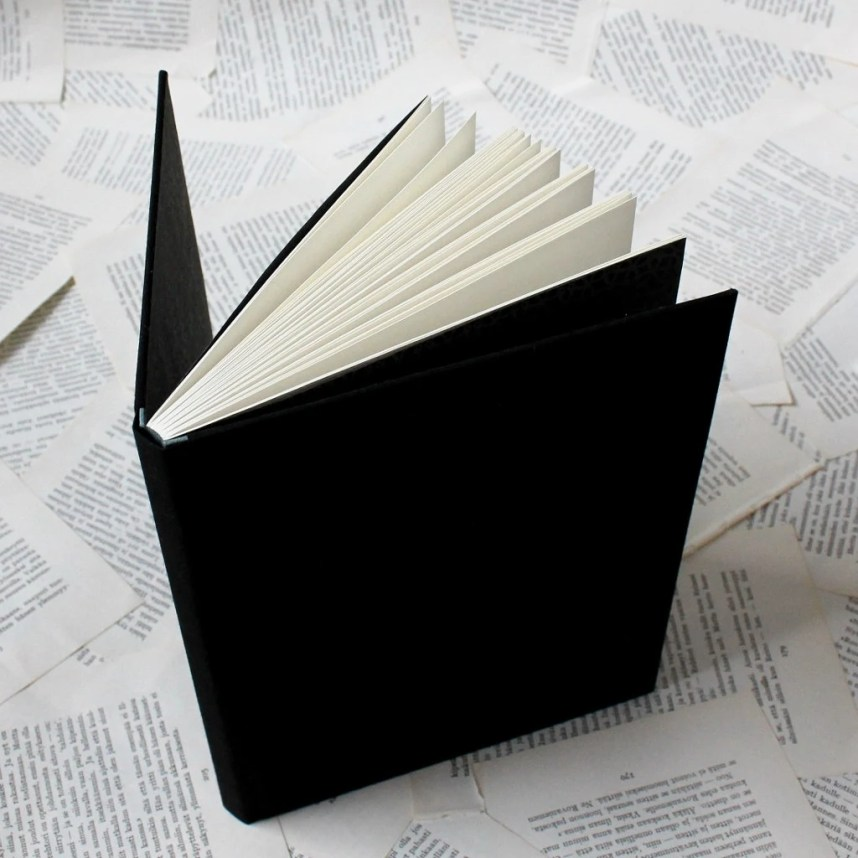 Large Black Notebook with...