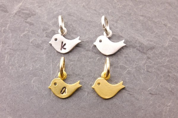 Add Charm Baby Bird Charms Silver Gold