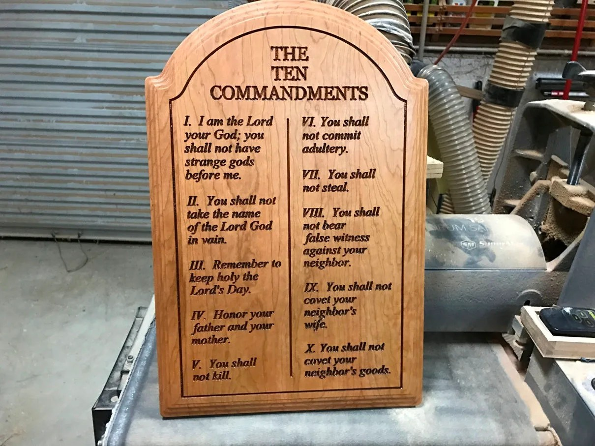 The Ten Commandments Carved To Your Specifications Solid