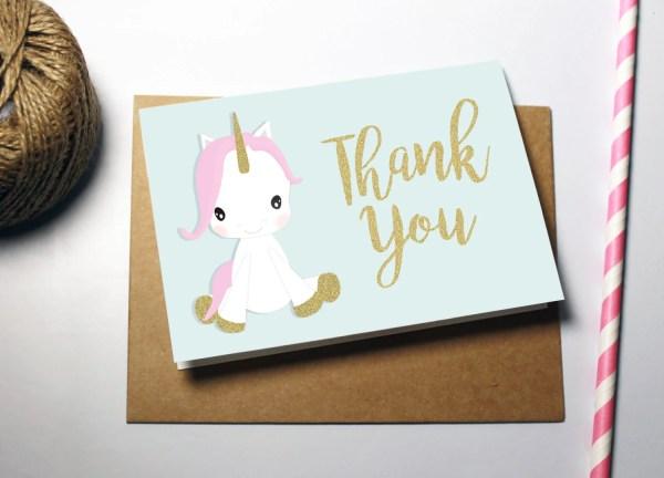 Rainbow Unicorn Birthday Card Instant