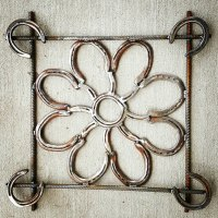 Framed Wall Decor Horseshoe Wall Art Rustic by ...