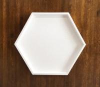 Hexagonal White Decorative Tray Hexagonal Serving Tray