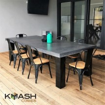 Polished Concrete 8 10 Seater Dining Table With 4 Powder