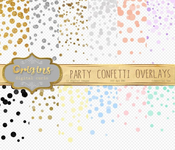 party confetti overlays clipart
