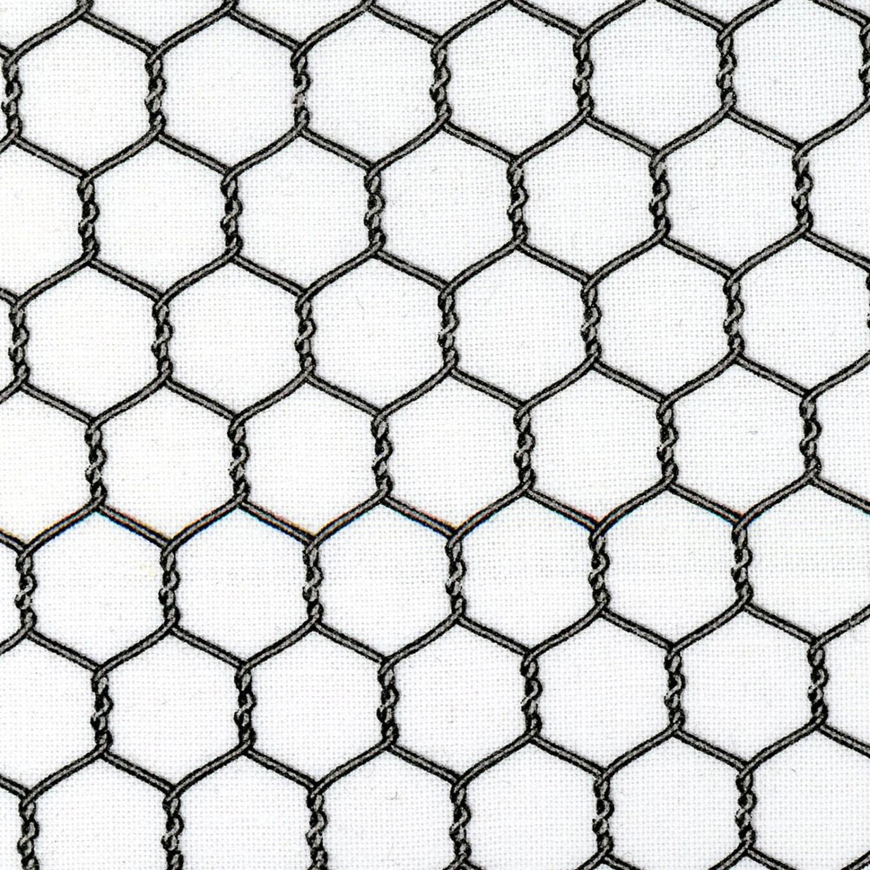 Gray & White Chicken Wire Fabric Elizabeths Studio Landscape