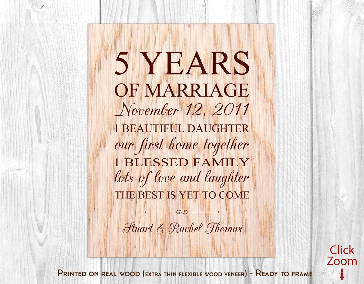 Wood Anniversary Gifts For Him 5th Anniversary Gift Wood 5th