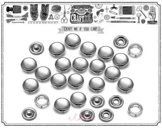 20SETS 9MM MIRROR Fashion Pearl Snaps Fasteners for Western
