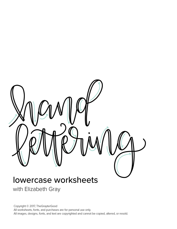 Hand Lettering Worksheets / Hand Lettering Practice Custom