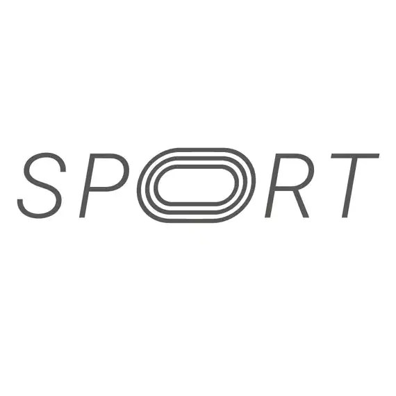 Word SPORT as the symbol or logo svg clipart cut files eps